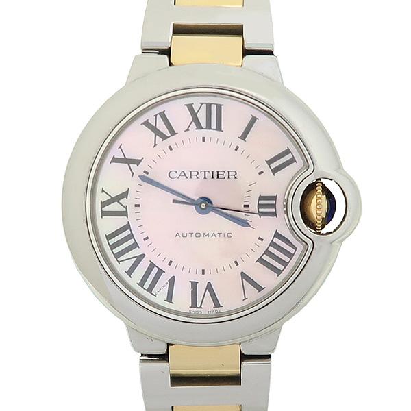 Cartier(까르띠에) W6920098 발롱블루 33MM 18K 핑크골드 핑크 자개판 콤비 오토매틱 시계 [강남본점] 이미지5 - 고이비토 중고명품