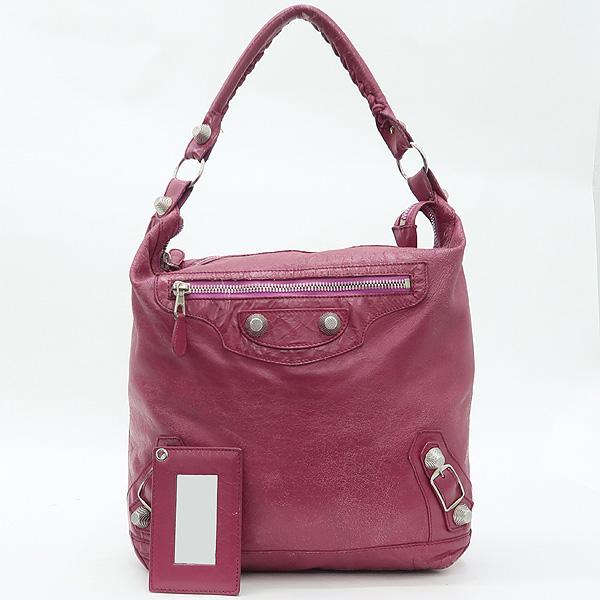 Balenciaga(발렌시아가) 173081 빈티지 핑크 컬러 레더 자이언트 데이 숄더백 + 보조거울 [강남본점]