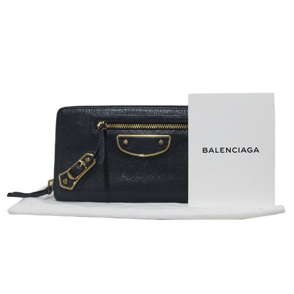 Balenciaga(발렌시아가) 390187 다크네이비 컬러 자이언트 엣지 금장 여성용 장지갑 [대구반월당본점]