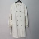 MICHAELKORS(마이클코어스) 면 혼방 화이트 컬러 여성용 트렌치 코트 + 허리끈 SET [대구반월당본점]