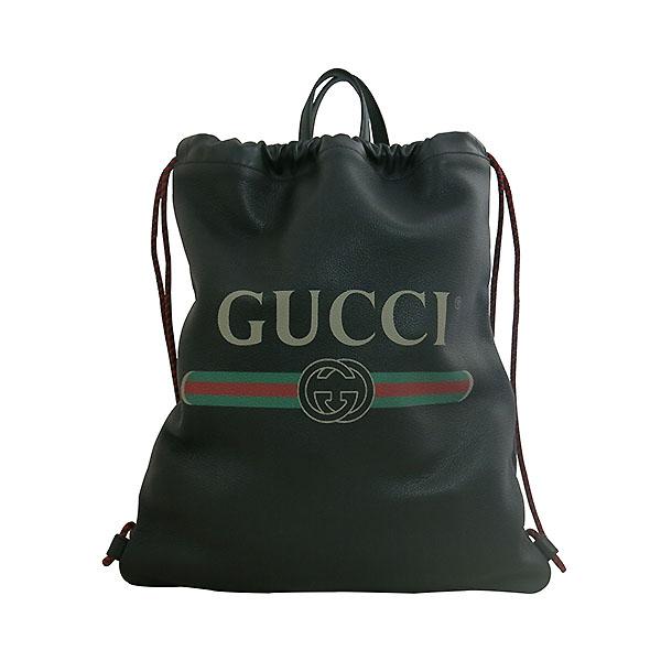 Gucci(구찌) 494053 구찌 로고 가죽 드로우스트링 백팩 [대구동성로점]