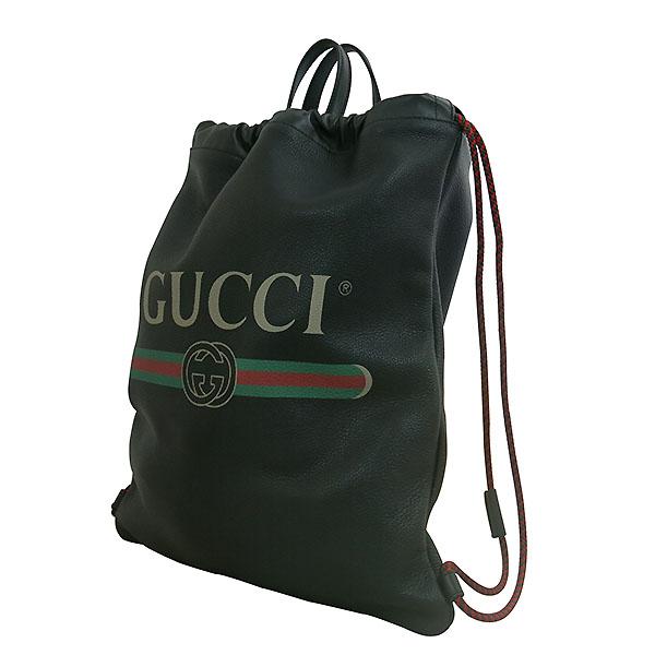 Gucci(구찌) 494053 구찌 로고 가죽 드로우스트링 백팩 [대구동성로점] 이미지2 - 고이비토 중고명품