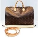 Louis Vuitton(루이비통)루이비통) M40393 모노그램 캔버스 반둘리에 스피디 40 토트백 + 숄더스트랩(W)