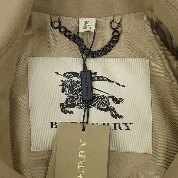 Burberry(버버리) 3929740 울 캐시미어 혼방 베이지 컬러 여성용 트렌치 코트 + 벨트 SET [강남본점] 이미지4 - 고이비토 중고명품