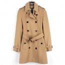 Burberry(버버리) 3929740 울 캐시미어 혼방 베이지 컬러 여성용 트렌치 코트 + 벨트 SET [강남본점]