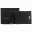Dupont(듀퐁) CI74111 은장 로고 장식 블랙 레더 남성용 지갑 [강남본점]