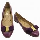 Ferragamo(페라가모) 퍼플 컬러 바라장식 파이톤 패턴 여성용 구두 [강남본점]