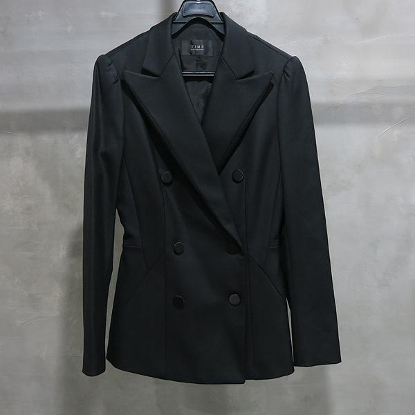 Time(타임) 실크 혼방 블랙 컬러 더블 브레스티드 여성용 자켓 [인천점]