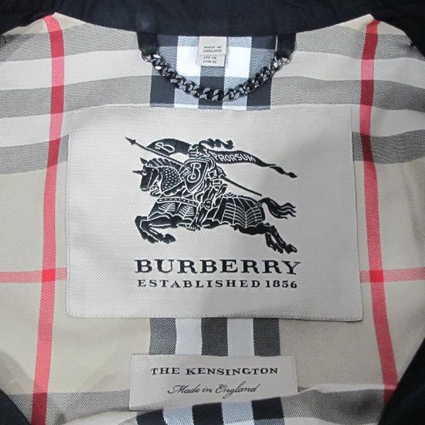 Burberry(버버리) 3900459 블랙 컬러 켄싱턴 미드 헤리티지 여성용 트렌치코트 + 벨트SET [대구반월당본점] 이미지4 - 고이비토 중고명품