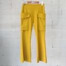 Acne(아크네) STUDIOS 스튜디오스 MELLO 머스터드 컬러 포켓 장식 부츠컷 여성용 바지 [동대문점]