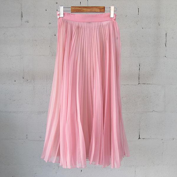 Gucci(구찌) 427018 실크 혼방 핑크 컬러 여성용 플리츠 스커트 [동대문점] 이미지3 - 고이비토 중고명품