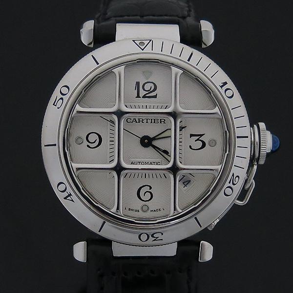 Cartier(까르띠에) W3104055 파샤 그리드 38MM 오토매틱 남성용 가죽밴드시계 [부산센텀본점]
