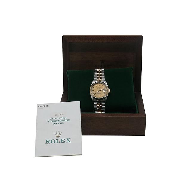 Rolex(로렉스) 16233 18K 콤비 DATEJUST(데이저스트) 보카시 다이얼 오토매틱 남성용 시계 [인천점]