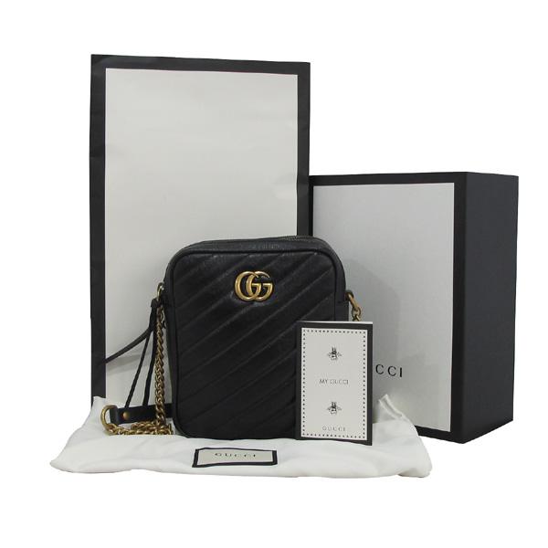 Gucci(구찌) 550155 블랙 컬러 GG 마몬트 마틀라쎄 미니 숄더백 [대구동성로점]