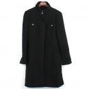 Chanel(샤넬) 울 100% 블랙 컬러 로고 버튼 여성용 코트 [강남본점]