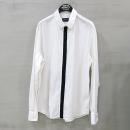 Emporio Armani(엠포리오 아르마니) 면 혼방 화이트 컬러 히든 버튼 남성용 셔츠 [부산센텀본점]