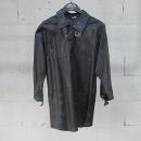 DODO BAR OR(도도 바 오르) 램스킨 퍼포 블랙컬러 아웃포켓 골드메탈 핀버클 디테일 자켓 [동대문점]