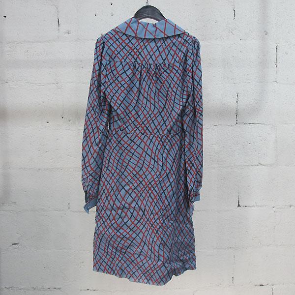 Gucci(구찌) 382322 실크 100% 라이트 블루 멀티 체크 패턴 실크 원피스 [동대문점] 이미지3 - 고이비토 중고명품