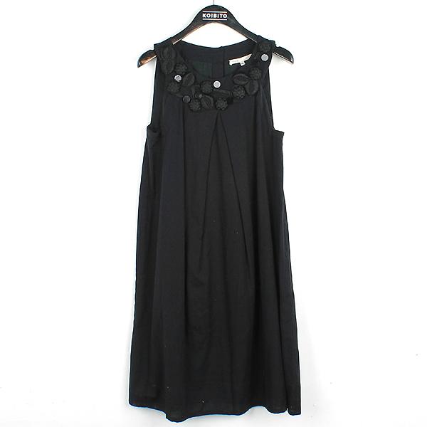 MAJE(마쥬) 블랙 컬러 면 혼방 여성용 원피스 [강남본점]