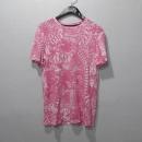 TORY BURCH(토리버치) 핑크 컬러 면 100% 패턴 프린팅 여성용 반팔 티 [대구반월당본점]