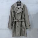 Burberry(버버리) 면 혼방 골드 메탈릭 컬러 남성용 트렌치 코트 (허리끈 SET) [부산센텀본점]