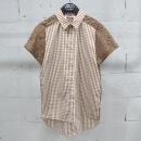 N.21(넘버21) 초코브라운 컬러 체크 레이스 디테일 여성용 셔츠 [동대문점]