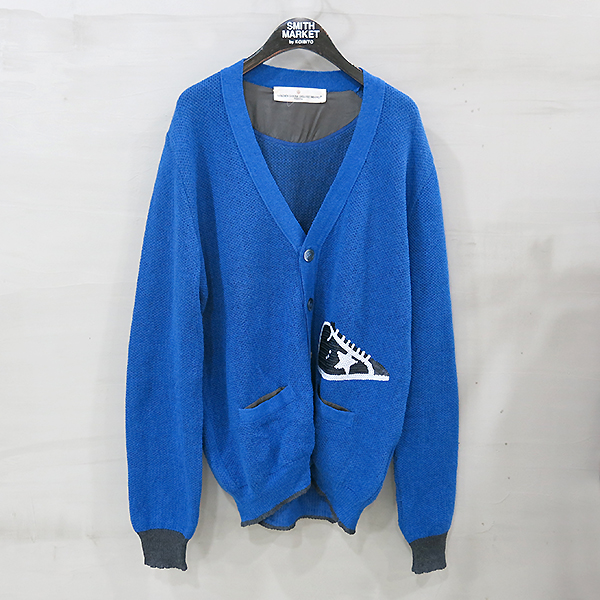 Golden Goose(골든구스) 린넨 + 코튼 혼방 블루 컬러 남성용 가디건 [부산센텀본점]