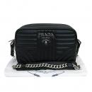 Prada(프라다) 1BD107 은장로고 블랙레더 다이아그램 체인 숄더 크로스백 [부산센텀본점]