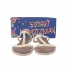 STUART WEITZMAN(스튜어트 와이츠먼) TEEZER 베이지 컬러 비즈 장식 여성용 젤리 샌들 [동대문점]