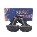 STUART WEITZMAN(스튜어트 와이츠먼) TEEZER 블랙 컬러 비즈 장식 여성용 젤리 샌들 [동대문점]