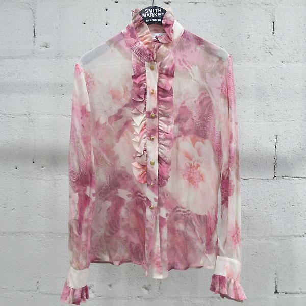 ST.John(센존) 실크 100% 핑크 컬러 플라워 프린팅 블라우스 [동대문점]