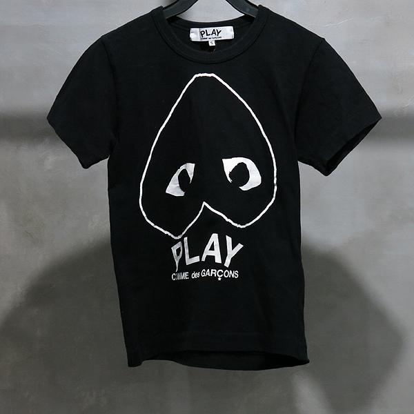 COMME DES GARCONS(꼼데 가르송) AZ-T113 블랙 컬러 플레이 반팔 티셔츠 [인천점]