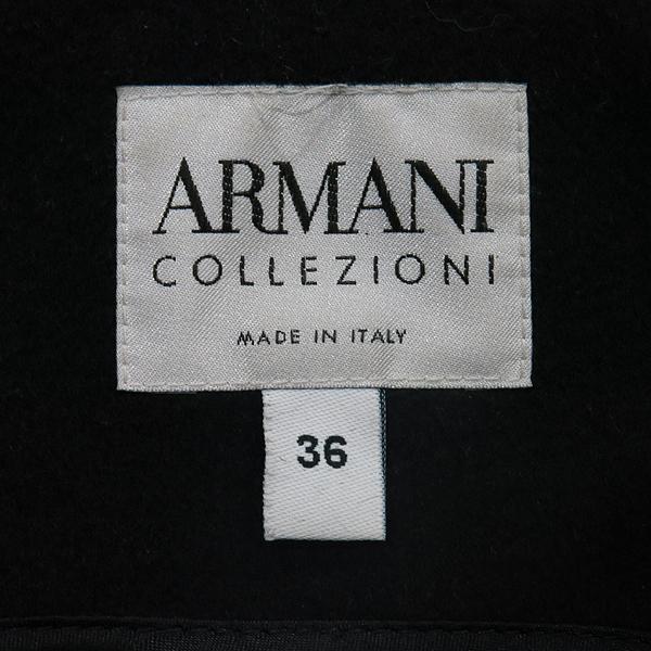 Armani COLLEZIONI(아르마니 꼴레지오니) MML18T-MM650 블랙 모 혼방 모피 장식 여성용 롱 코트 벨트(SET) [인천점] 이미지3 - 고이비토 중고명품