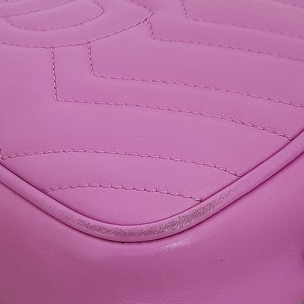 Gucci(구찌) 447632 핑크 레더 GG Marmont(마몬트) 마틀라세 금장 로고 체인 크로스백 [동대문점] 이미지4 - 고이비토 중고명품