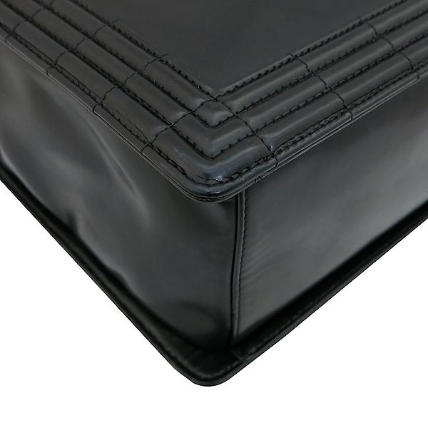 Chanel(샤넬) 블랙 레더 페이던트 보이 토트백  + 체인 숄더 스트랩 2WAY [부산센텀본점] 이미지5 - 고이비토 중고명품