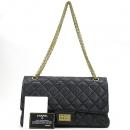 Chanel(샤넬) A37590 빈티지 블랙컬러 2.55 L사이즈 골드메탈 금장로고 체인 플랩 숄더백 [강남본점]