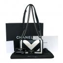 Chanel(샤넬) A67085Y60881 보이샤넬 빈티지 은장 화이트 블랙 믹스 레더 스몰 숄더백 [부산센텀본점]