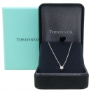 Tiffany(티파니) PT950 (플래티늄) SOLITAIRE(솔리테어) 1포인트 다이아 목걸이 [강남본점]