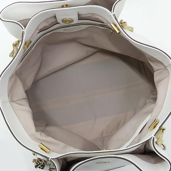 Tod's(토즈) 금장 이니셜 로고 화이트 레더 플라워 L사이즈 체인 숄더백 [강남본점] 이미지5 - 고이비토 중고명품