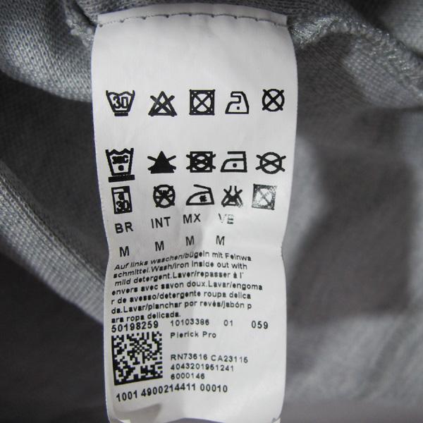 Boss(보스) 면 혼방 사선 패턴 레드 로고 남성용 반팔 티 [대구반월당본점] 이미지5 - 고이비토 중고명품