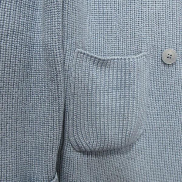 LORO PIANA(로로피아나) 베이비 캐시미어 100% 스카이블루 컬러 여성용 롱 가디건 [대구반월당본점] 이미지4 - 고이비토 중고명품