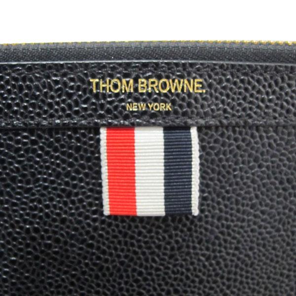 THOM BROWNE(톰브라운) 삼색 스티치 블랙 레더 클러치백 [대구반월당본점] 이미지3 - 고이비토 중고명품