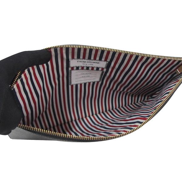 THOM BROWNE(톰브라운) 삼색 스티치 블랙 레더 클러치백 [대구반월당본점] 이미지4 - 고이비토 중고명품