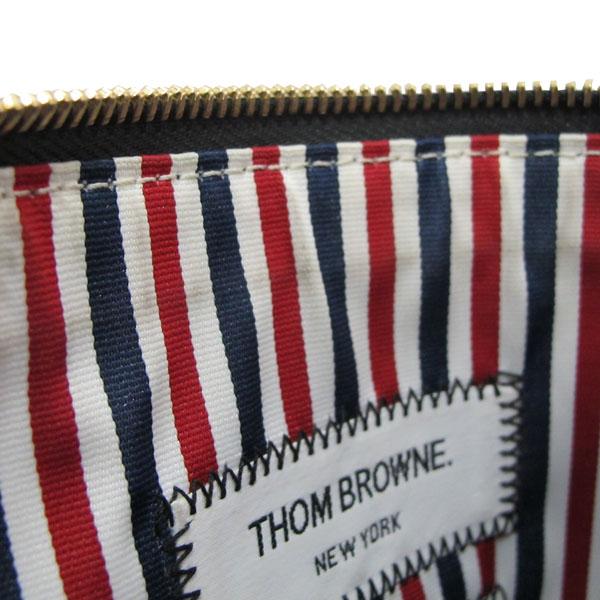 THOM BROWNE(톰브라운) 삼색 스티치 블랙 레더 클러치백 [대구반월당본점] 이미지5 - 고이비토 중고명품