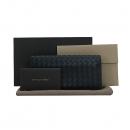 BOTTEGAVENETA (보테가베네타) 120697 블랙 레더 인트레치아토 장지갑 [부산센텀본점]