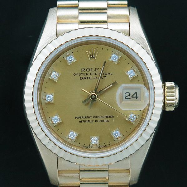 Rolex(로렉스) 69178 18K FULL GOLD 금통 10포인트 애프터 다이아 세팅 데이저스트 여성용 시계 [인천점] 이미지2 - 고이비토 중고명품