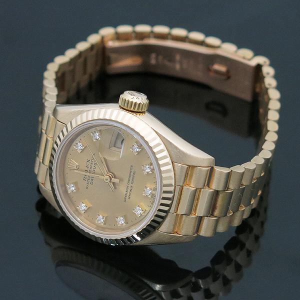 Rolex(로렉스) 69178 18K FULL GOLD 금통 10포인트 애프터 다이아 세팅 데이저스트 여성용 시계 [인천점] 이미지3 - 고이비토 중고명품