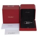 Cartier(까르띠에) 18K 화이트 골드 신형 잠금장식 저스트 앵끌루 팔찌 - 19호[대구 대백프라자점]