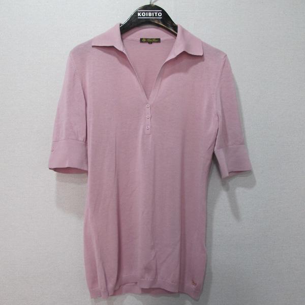 LORO PIANA(로로피아나) 면 100% 핑크 컬러 여성용 카라 티 [대구반월당본점]