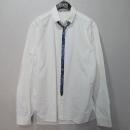 NEIL BARRETT(닐바렛) 면 100% 화이트 컬러 패턴 포인트 남성용 셔츠 [대구반월당본점]